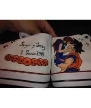 Zapatillas boda Goku y Chichi