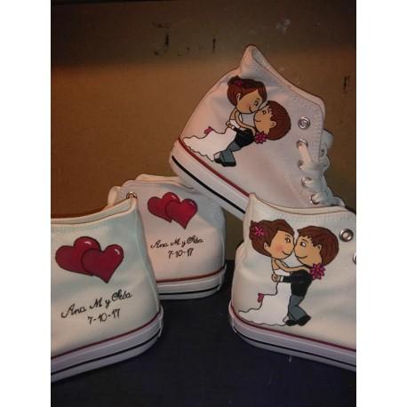 Zapatillas de boda novios a upa