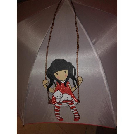 Paraguas muñeca columpio