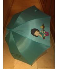 Paraguas muñeca sentada