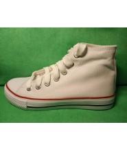 Zapatillas basket lona blanco sin dibujo