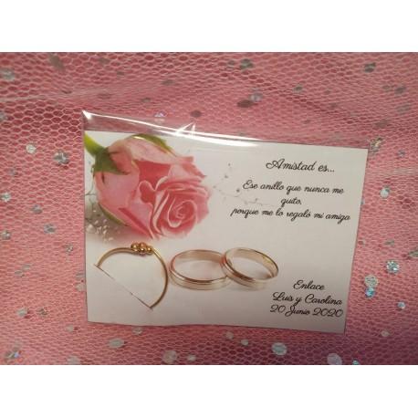 Detalle boda anillo golfield bolitas